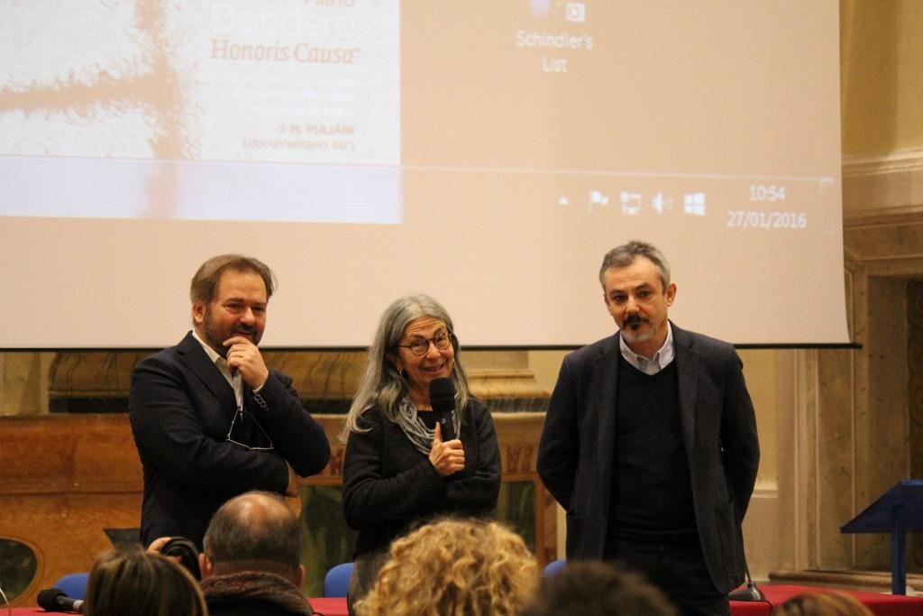 Laura Strappa tra Massimo Puliani e Angelo Ferracuti
