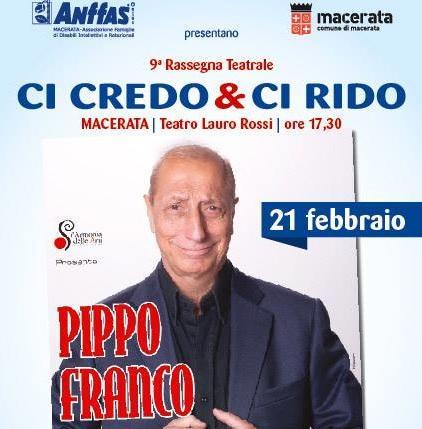 Pippo Franco al Lauro Rossi per l'ANFFAS