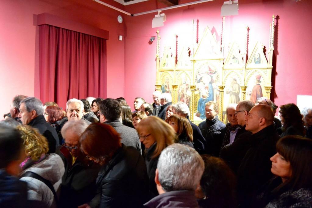 Pubblico alla Pinacoteca di San Severino Marche