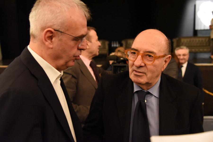 Il Sindaco Romano Carancini con Dante Ferretti