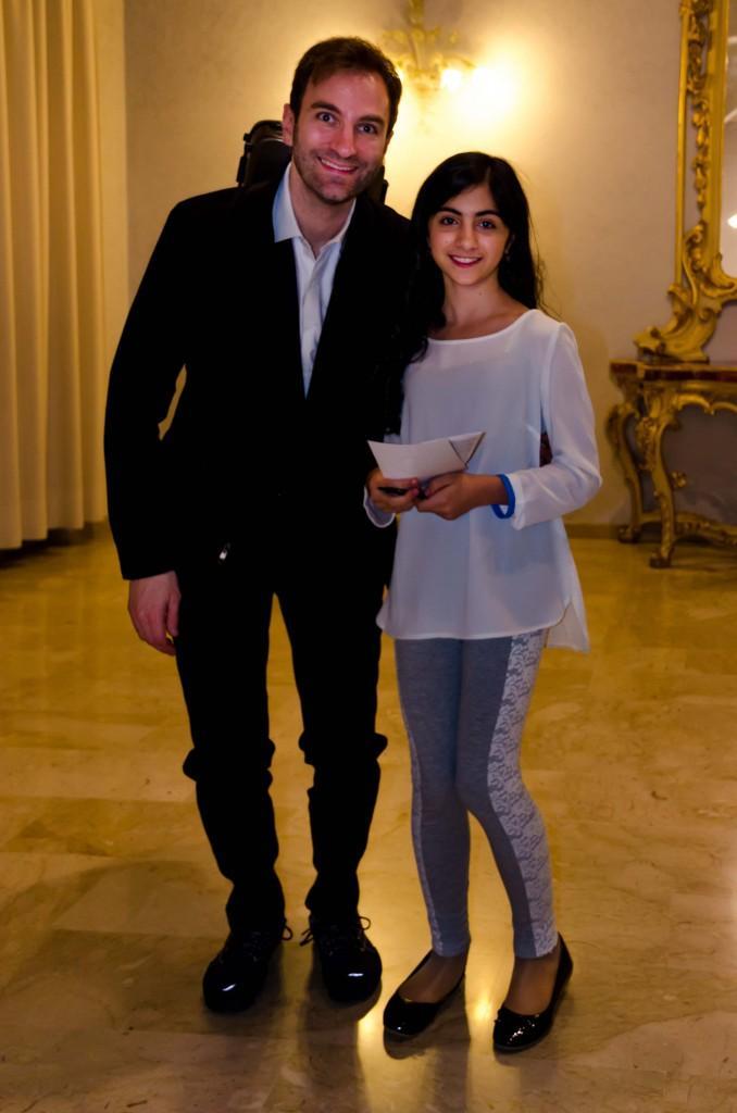 Stefan Milencovich con Elisa Re