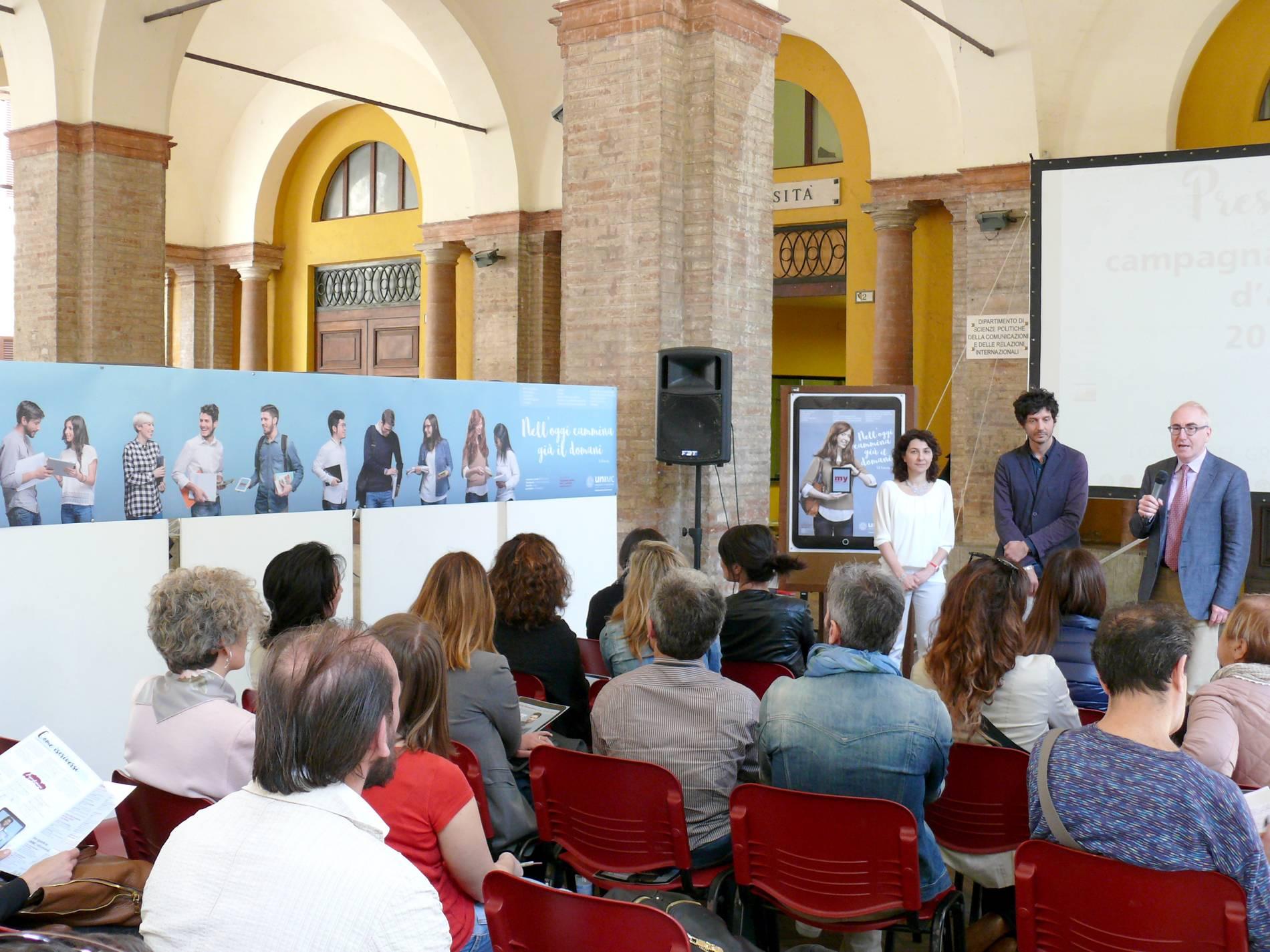 La nuova campagna pubblicitaria dell'Università di Macerata