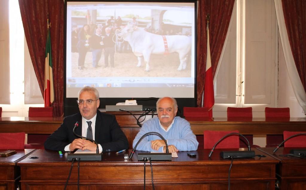 Il sindaco Romano Carancini e il presidente della Provincia Antonio Pettinari