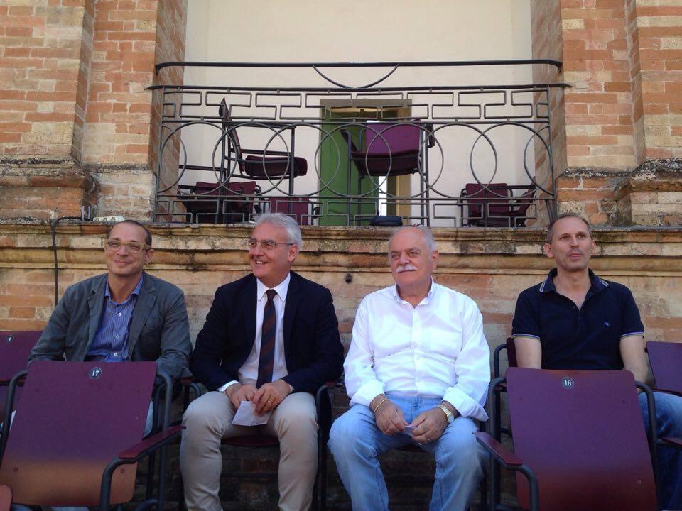 Francesco Micheli, Romano Carancini, Antonio Pettinari, Luciano Messi