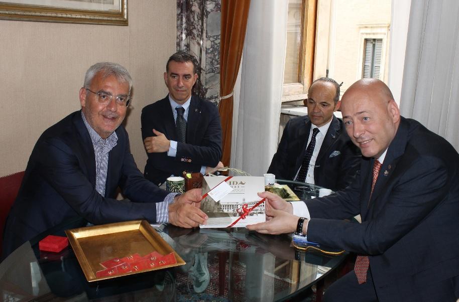 Governatore del Rotary in visita a Macerata