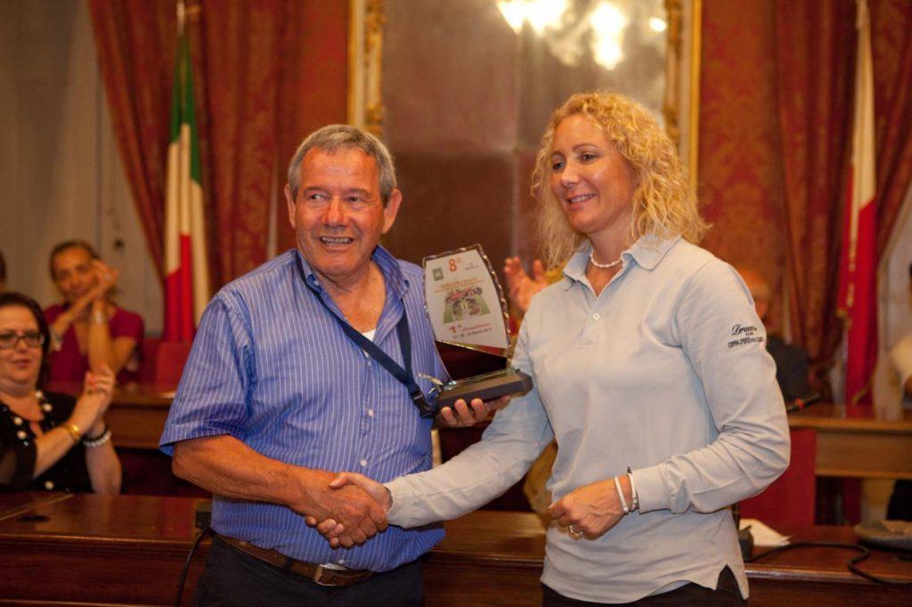 Francesca Grimaldi alla premiazione dell'edizione 2015 (foto Giuseppe Saluzzi)