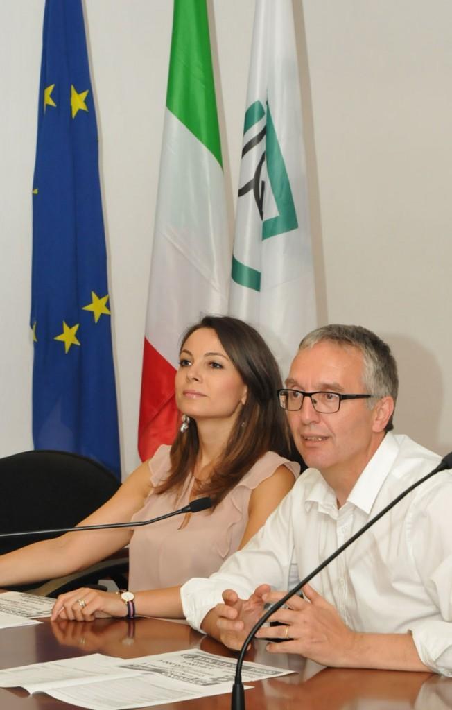 Manuela Bora e Luca Ceriscioli