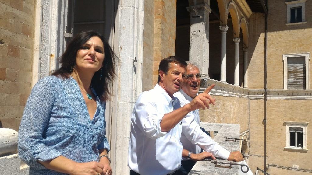 Stefania Monteverde, Giorgio Gori, Romano Carancini