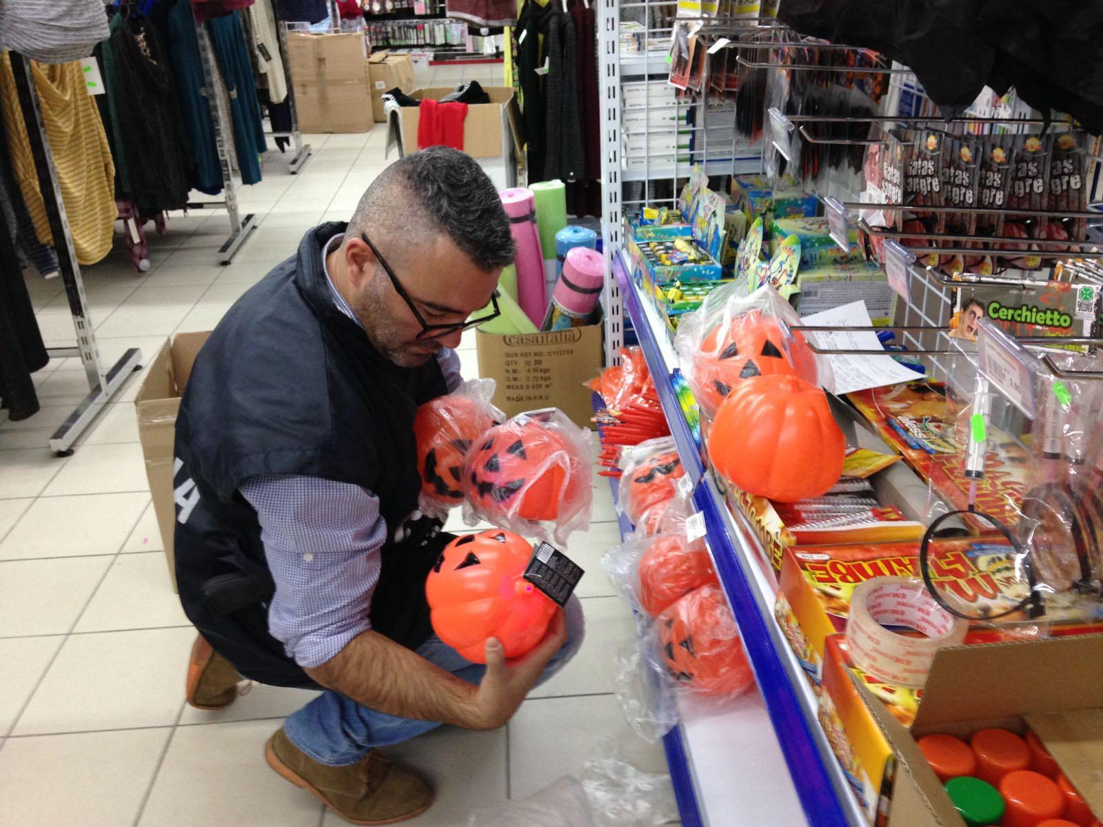 Halloween, la Finanza di Camerino sequestra 300.000 articoli insicuri