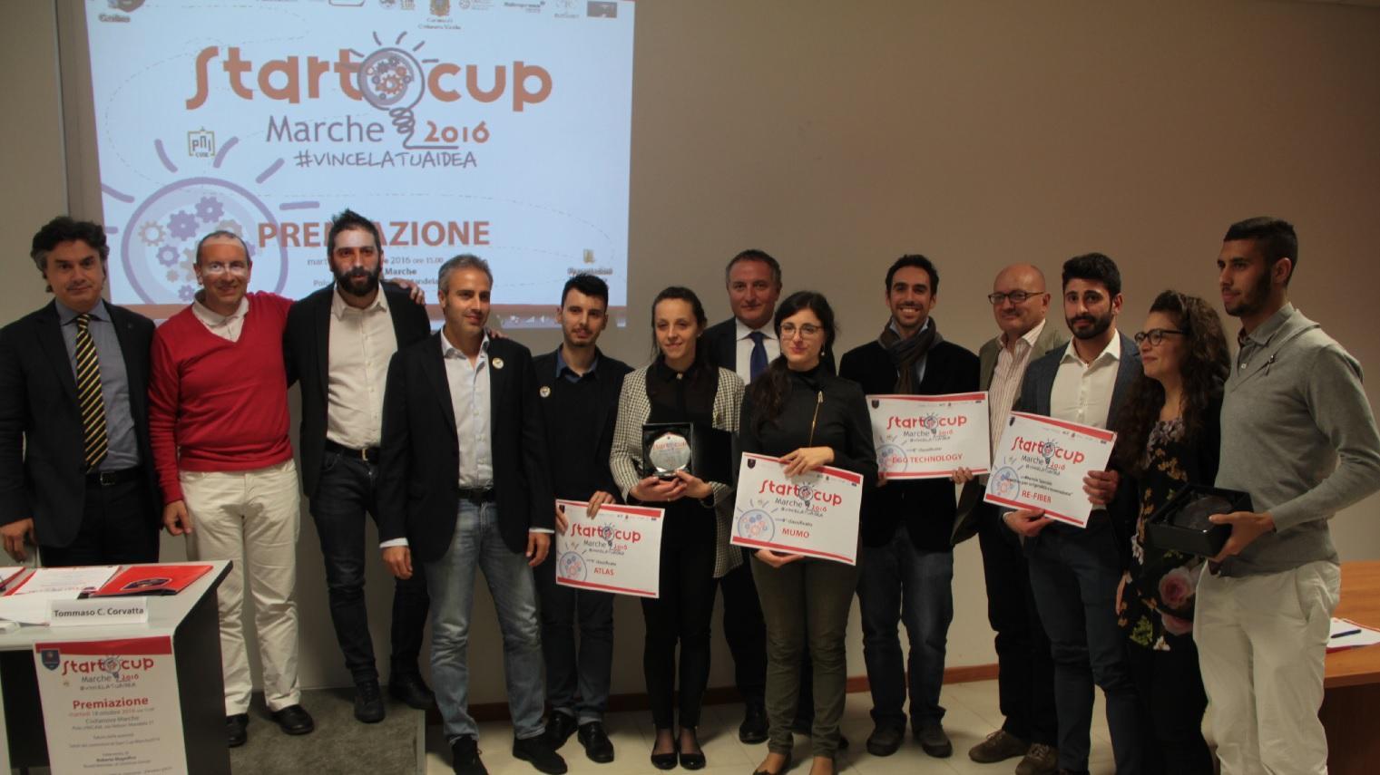 Unicam, a Civitanova premiati i vincitori di Start Cup Marche 2016