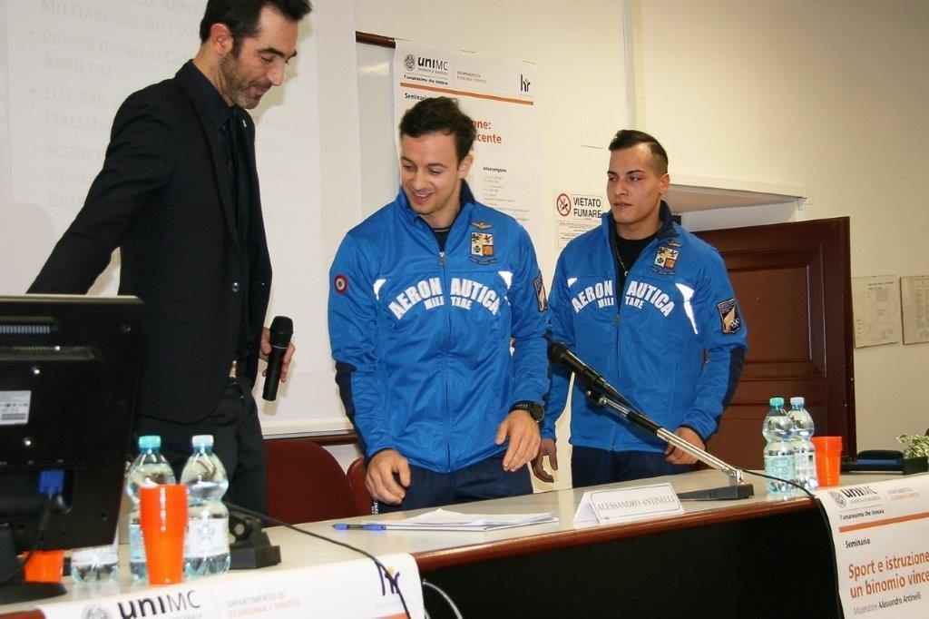 Alessandro Antinelli accoglie Paolo Principi e Andrea Cingolani