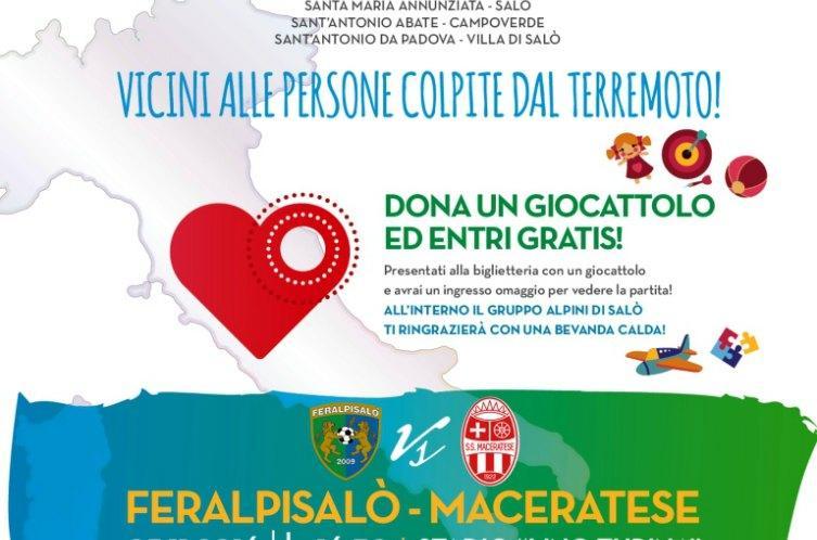 Feralpisalò-Maceratese nel segno della solidarietà di tifosi e alpini