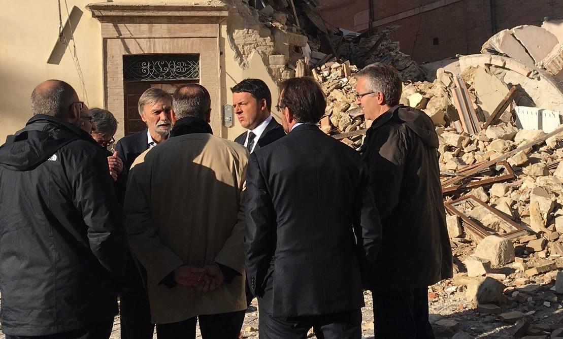 Matteo Renzi mercoledì a Macerata con i sindaci dei comuni terremotati
