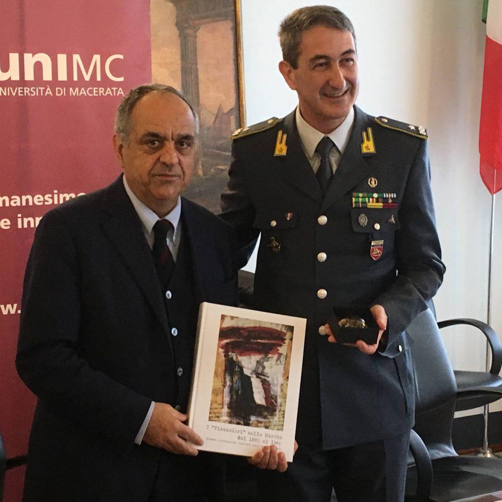 Il rettore Francesco Adornato e il comandante regionale Gianfranco Carozza