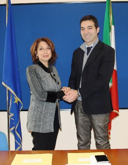 Il prefetto Roberta Preziotti e Francesco Acquaroli