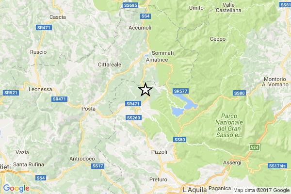 Terremoto, forte scossa di magnitudo 5.3 alle 10.25 nella zona del 24 agosto