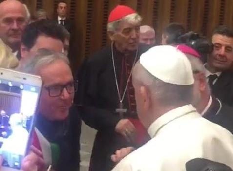 Franco Capponi con Papa Francesco