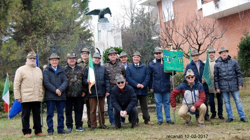 Giornata in amicizia per il Gruppo Alpini di Recanati e Castelfidardo