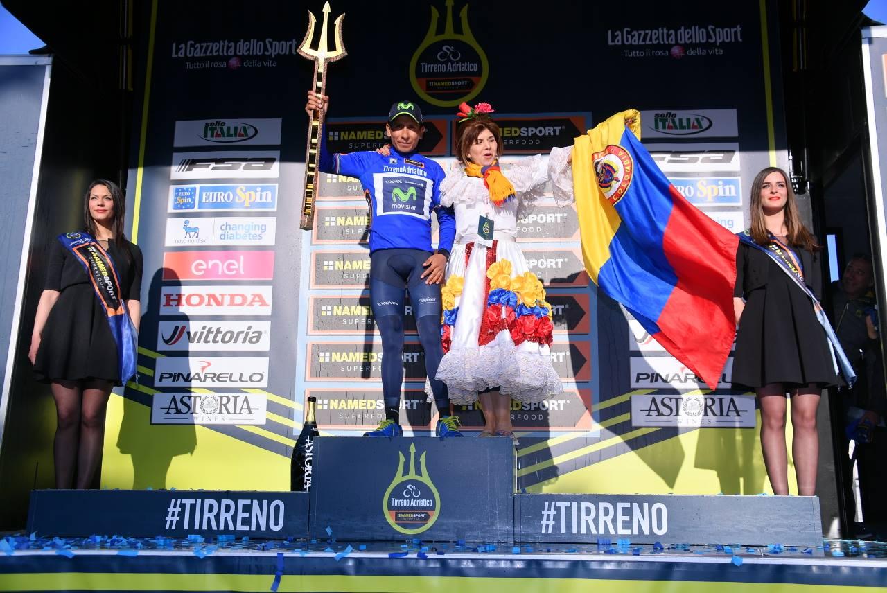 Nairo Quintana vince la Tirreno Adriatico, la crono finale a Rohan Dennis