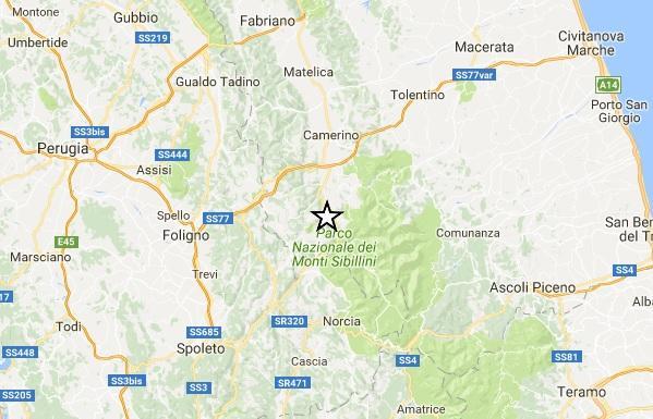 Terremoto, scosse fino a magnitudo 4.1 in serata nella zona di Visso