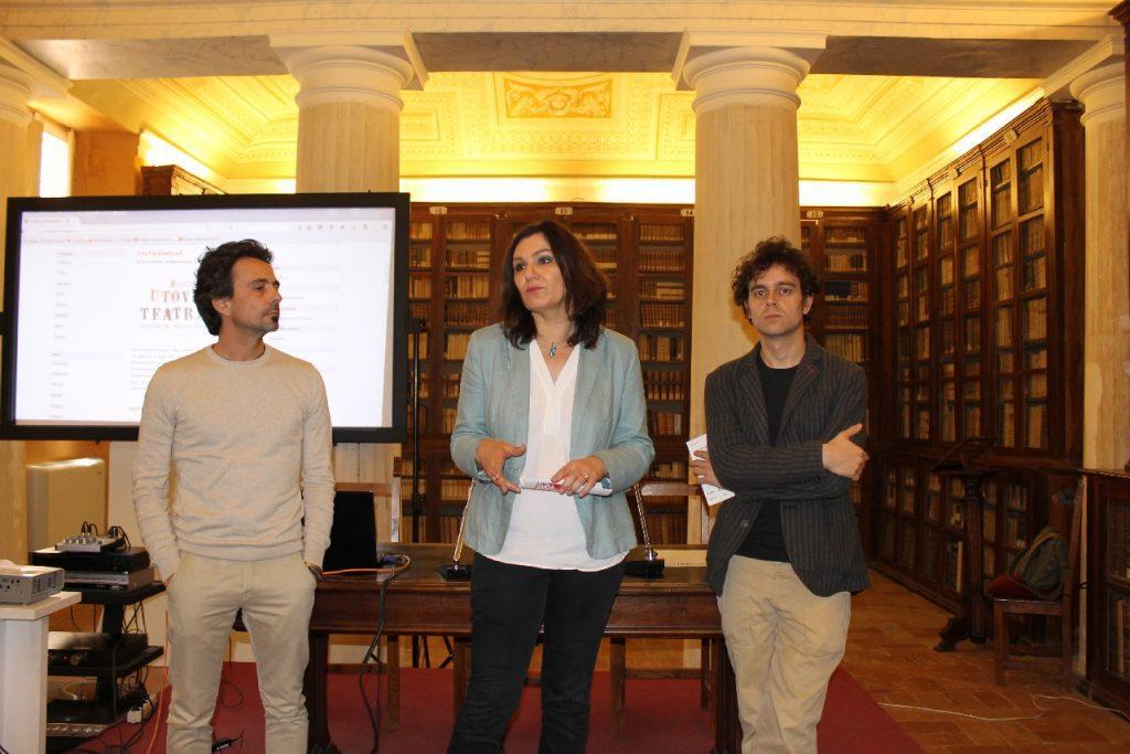 Davide Quintili, Stefania Monteverde e Antonio Mingarelli alla presentazione del Festival
