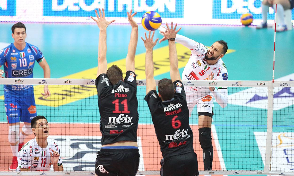 Revivre Milano-Lube 1-3, prova di carattere e Christenson MVP