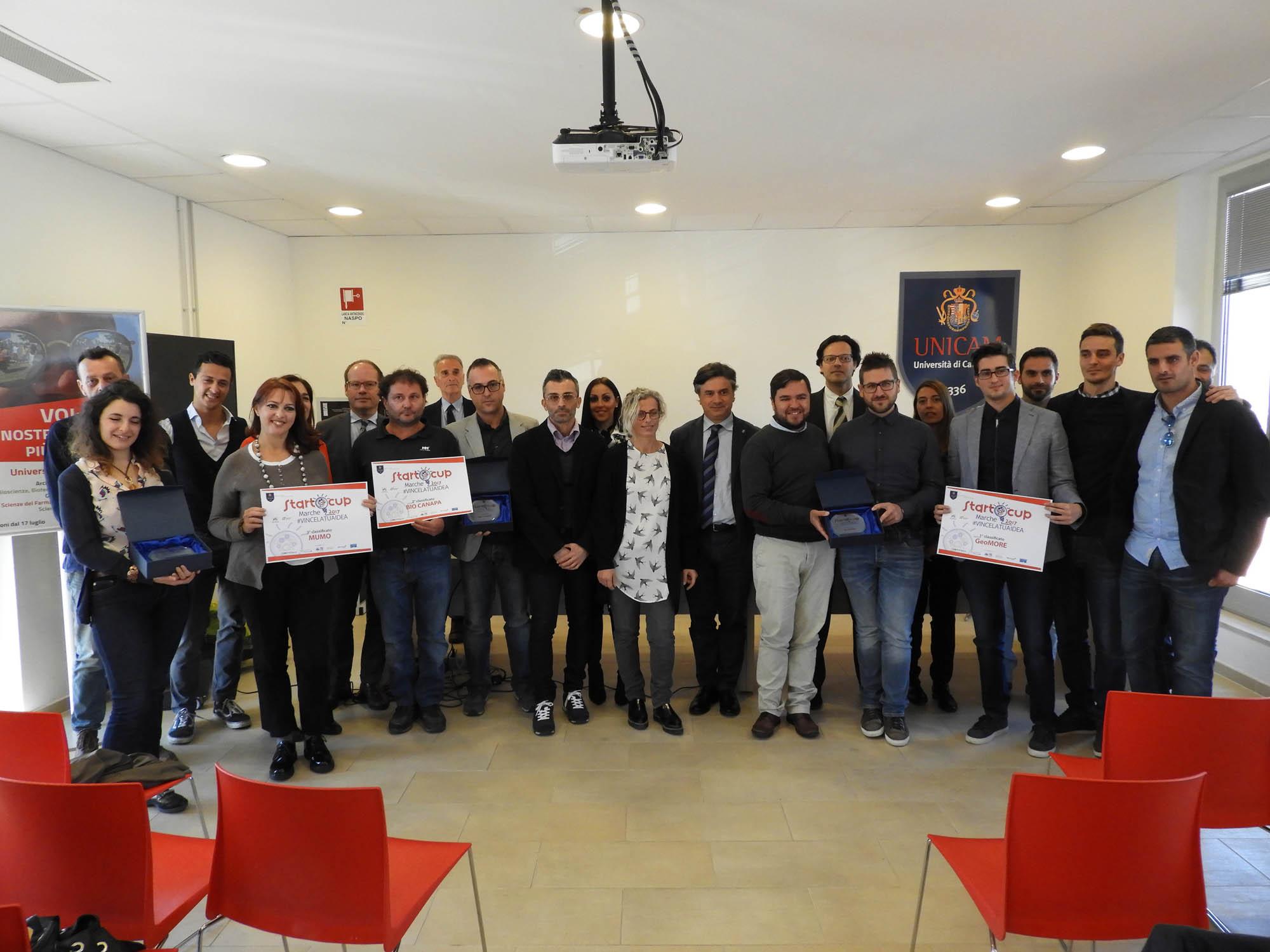 Unicam, premiati i progetti vincitori di Start Cup 2017
