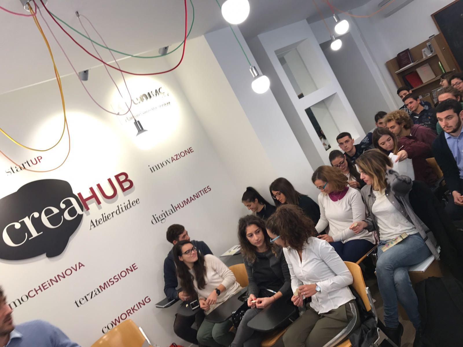 CreaHub, studenti Unimc a caccia di idee imprenditoriali