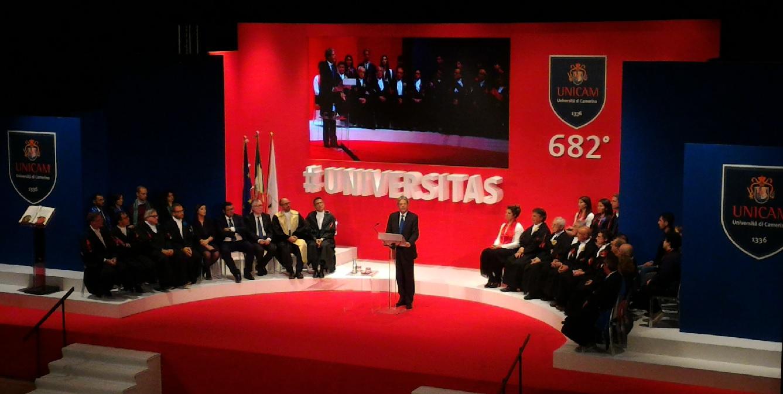 Unicam, Gentiloni all'inauguazione dell'Anno Accademico