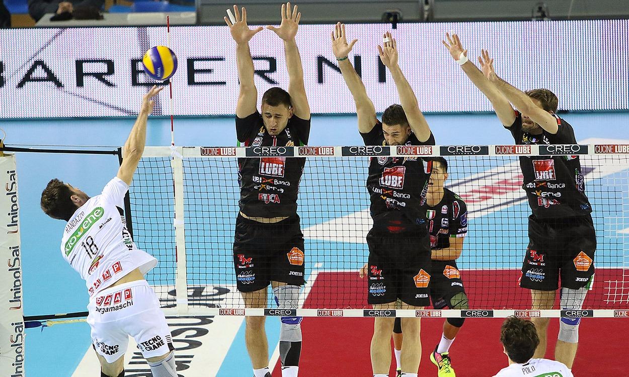 Lube-Padova 3-2, sofferta nona vittoria consecutiva