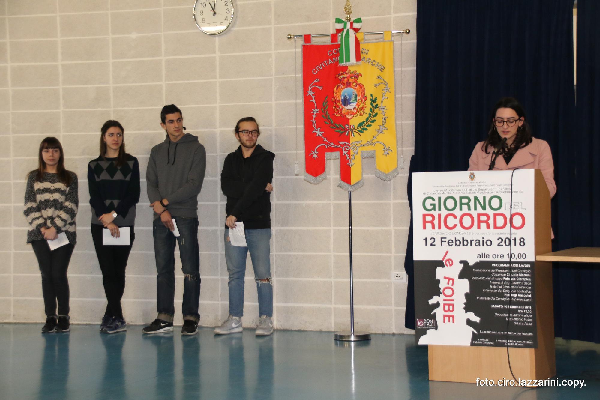 Civitanova Marche, il Giorno del Ricordo al Liceo Da Vinci