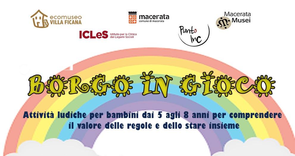 """Macerata, all'Ecomuseo """"Borgo in gioco"""" per bambini"""