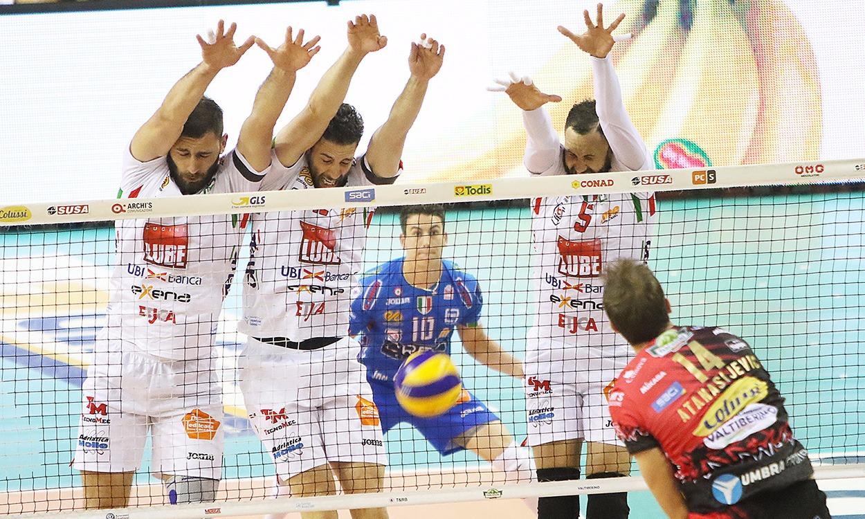 Lube, tanti errori e Perugia vince la prima gara di finale