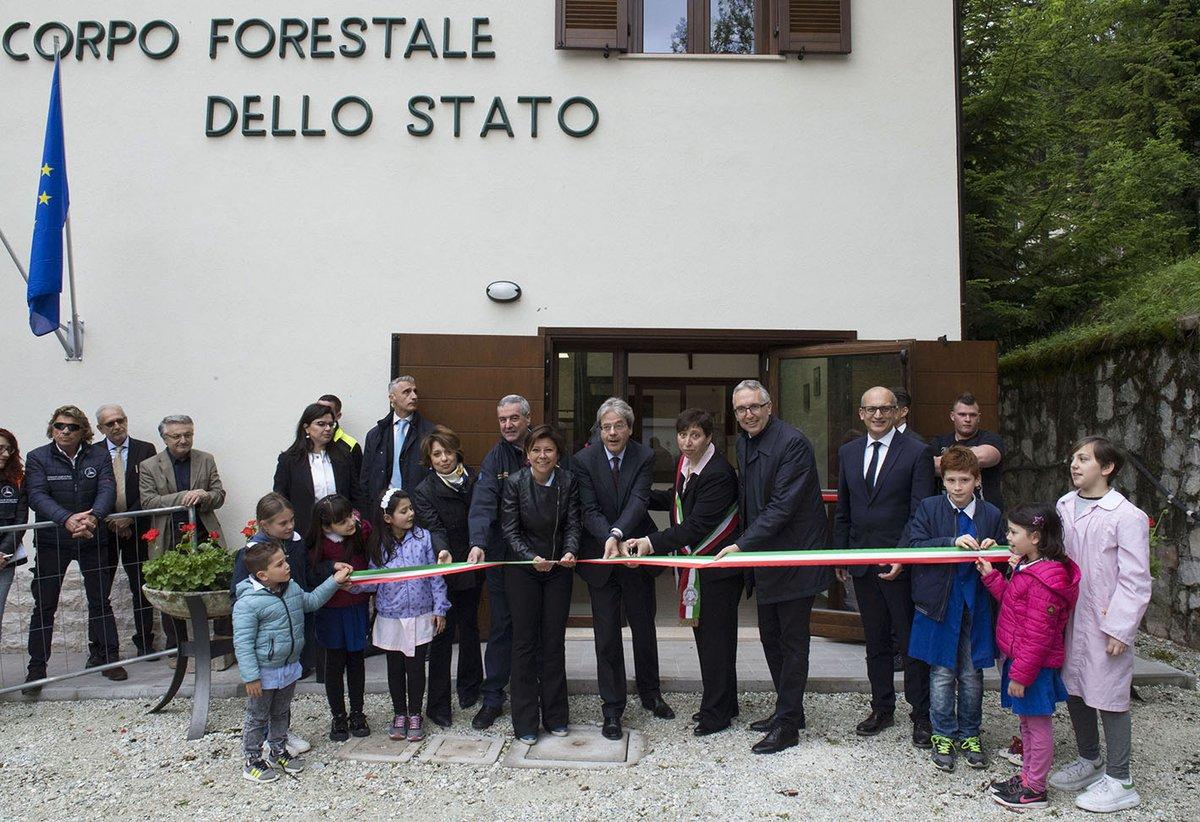 Bolognola, Gentiloni inaugura il nuovo Comune