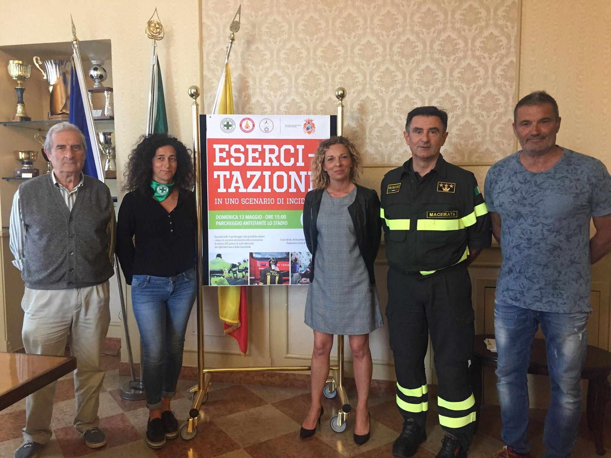 Esercitazione pubblica di soccorso a Civitanova Marche