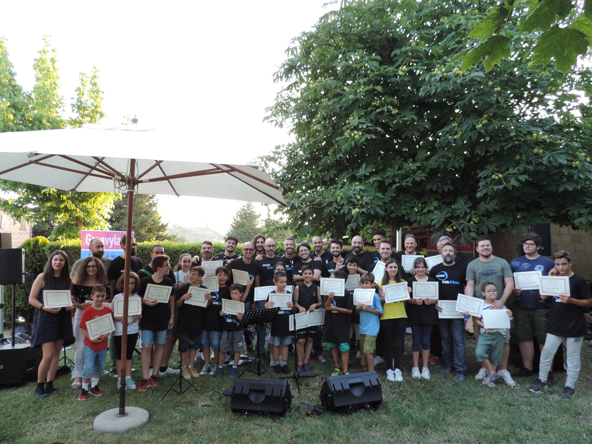Festa per gli allievi della scuola di musica Groovyland