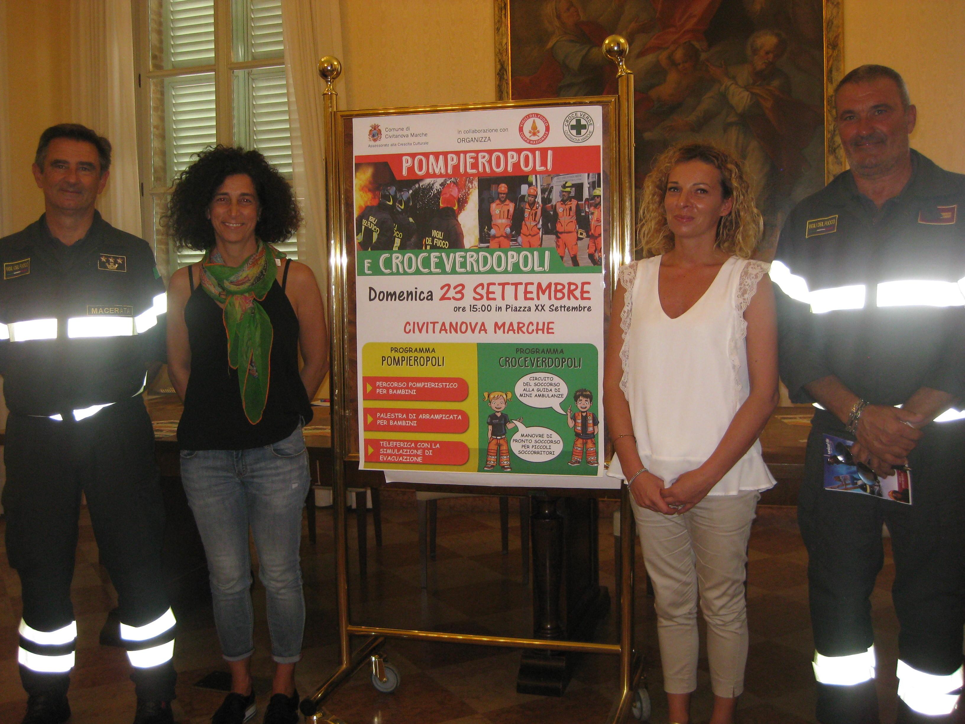 Civitanova Marche, a giocare con Vigili del Fuoco e Croce Verde