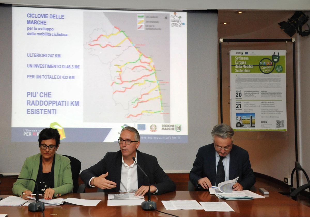 Regione Marche, 432 km di ciclovie per la mobilità sostenibile