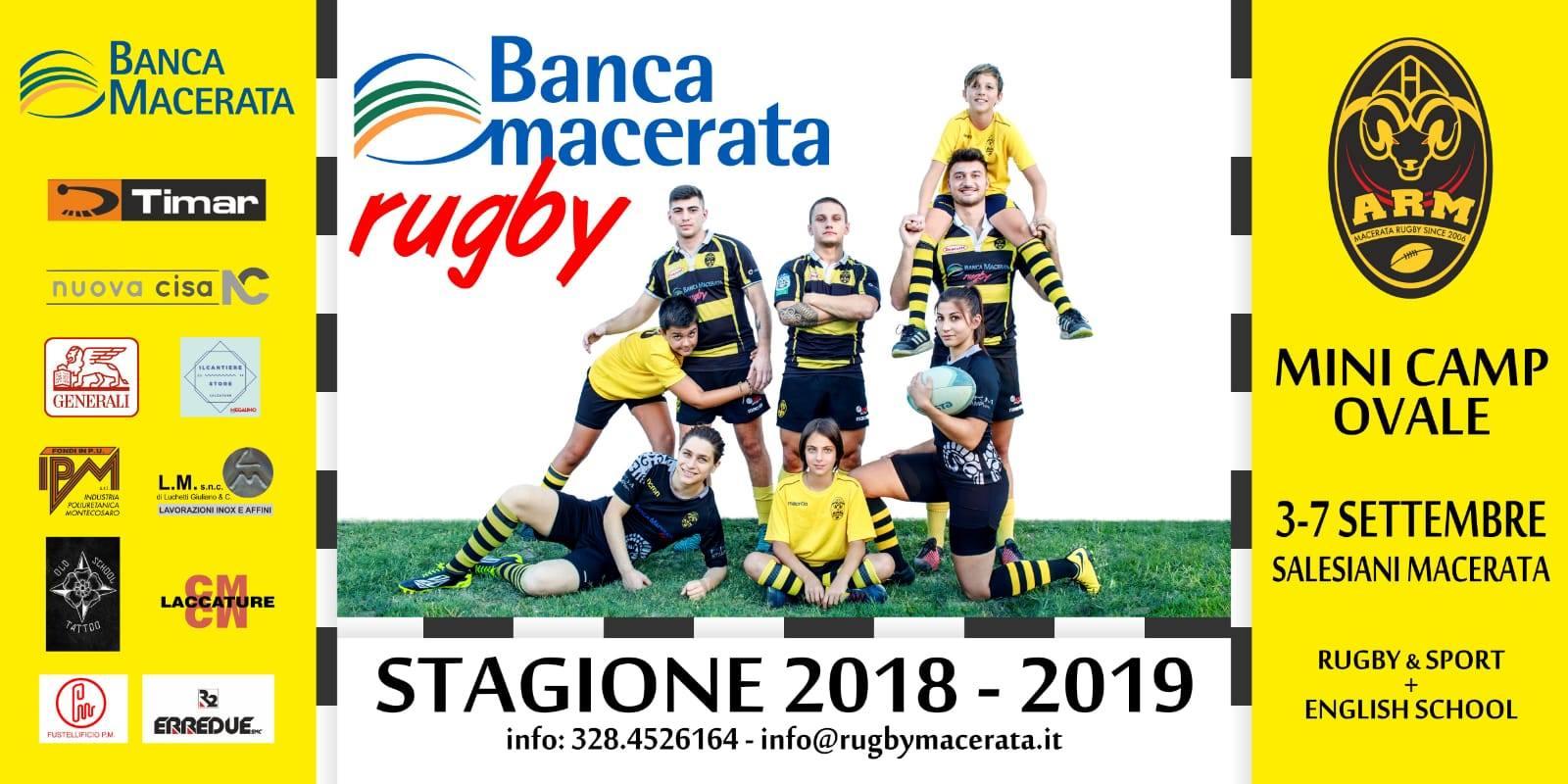 Macerata Rugby, mini camp per assaporare la palla ovale