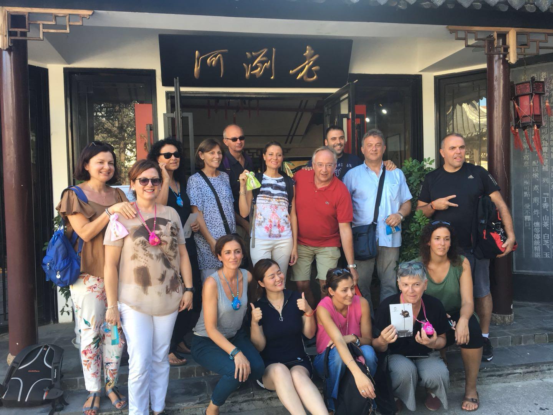 Maceratesi a Taicang, primo gruppo di turisti nella città amica