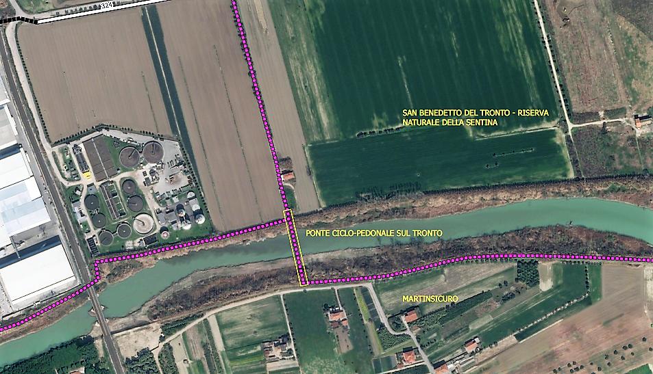 Ciclovia Adriatica, accordo per il ponte sul fiume Tronto