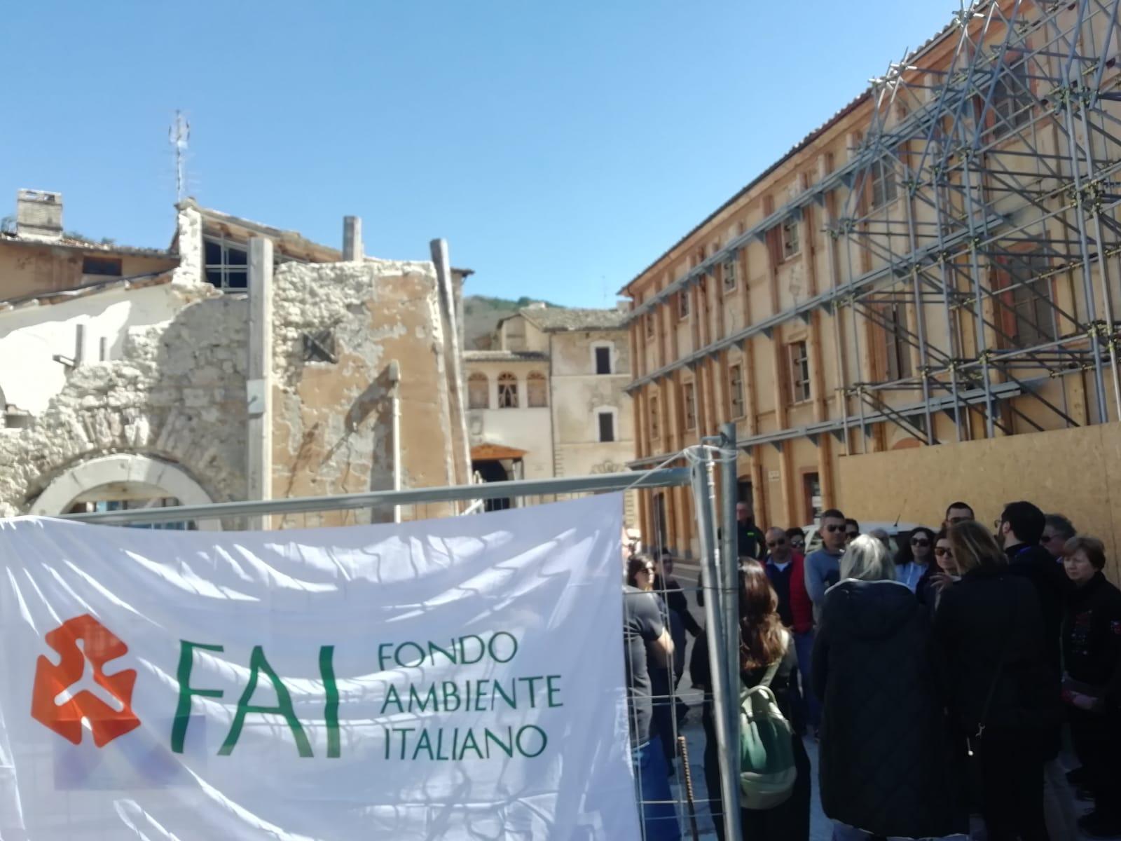 In tanti con il FAI a Macerata, Recanati e zona rossa di Visso
