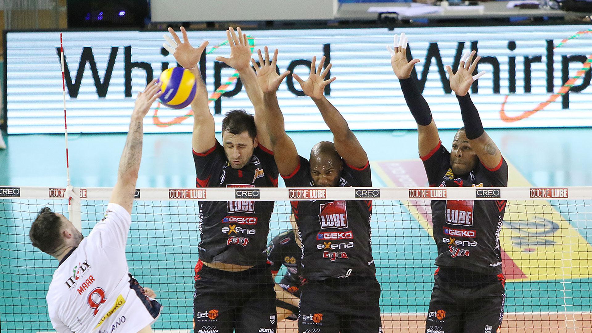 Lube-Revivre Milano 3-1, settima vittoria di fila in campionato