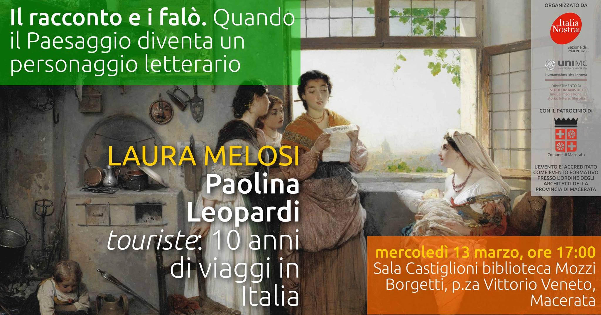 Macerata, i viaggi di Paolina Leopardi nell'Italia appena unita