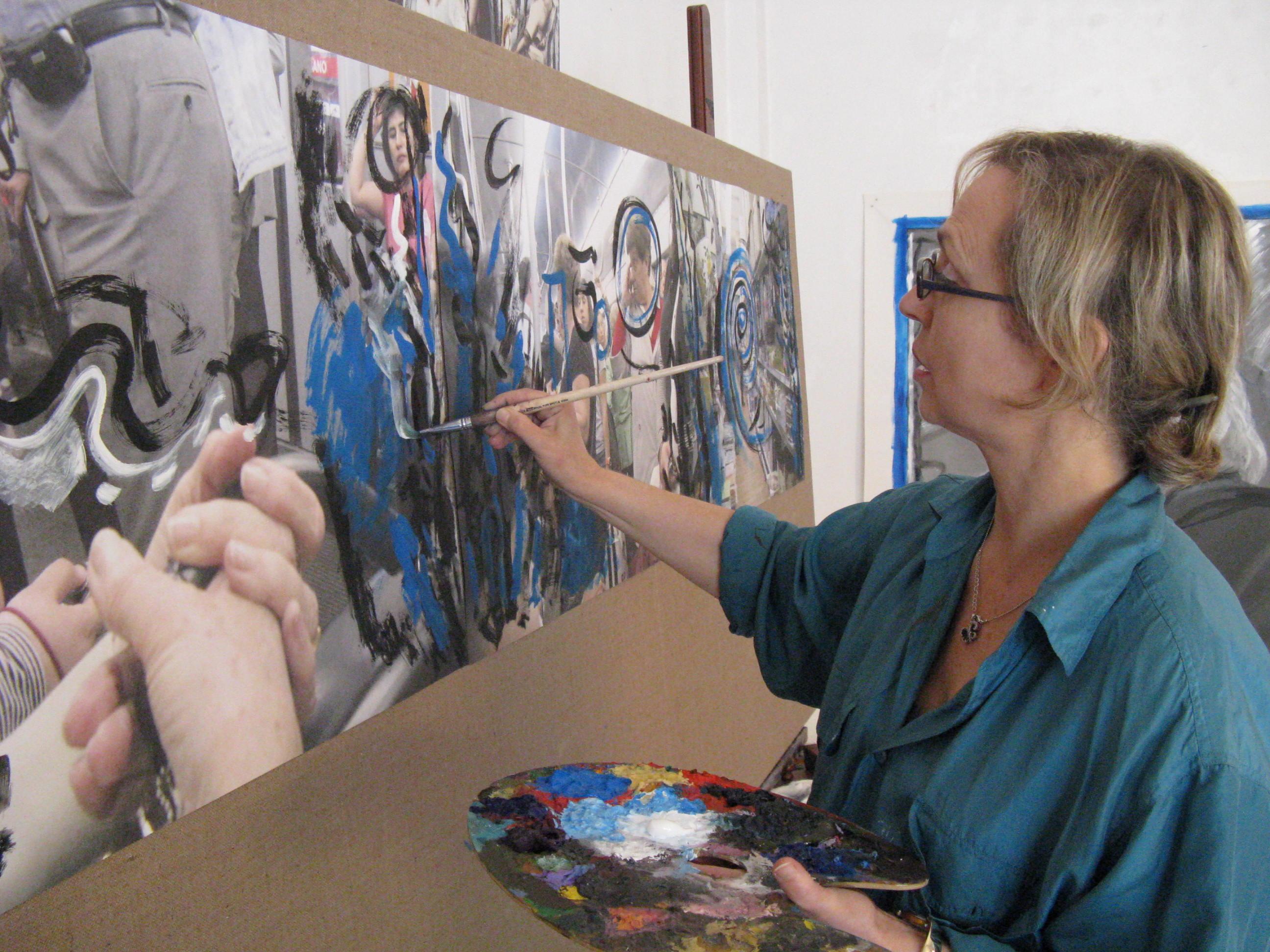 Recanati, omaggio a Leopardi della pittrice Marisa Settembrini