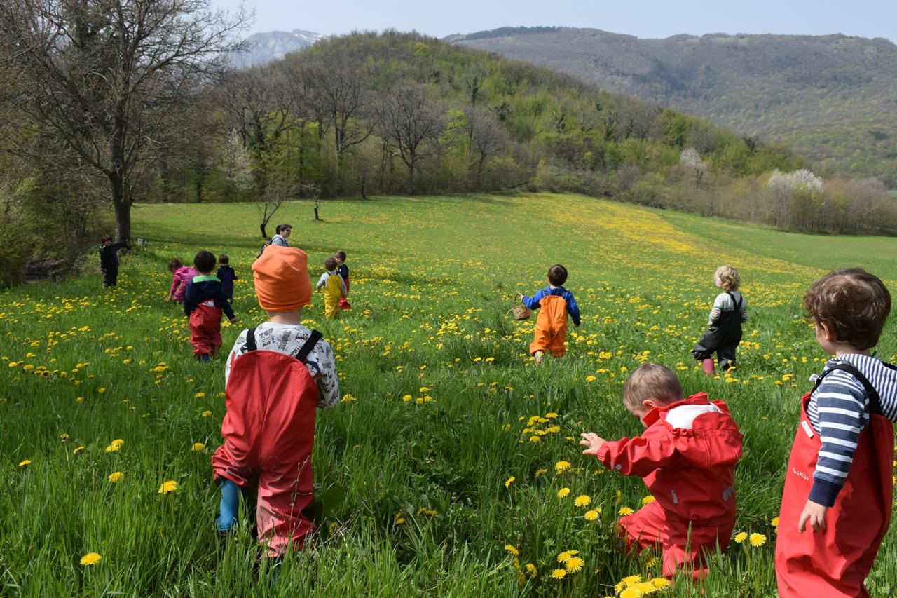 San Ginesio, bambini all'Agrinido per osservare la natura