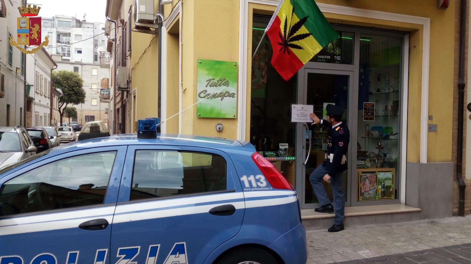 Civitanova Marche, chiusi dal Questore due cannabis shop