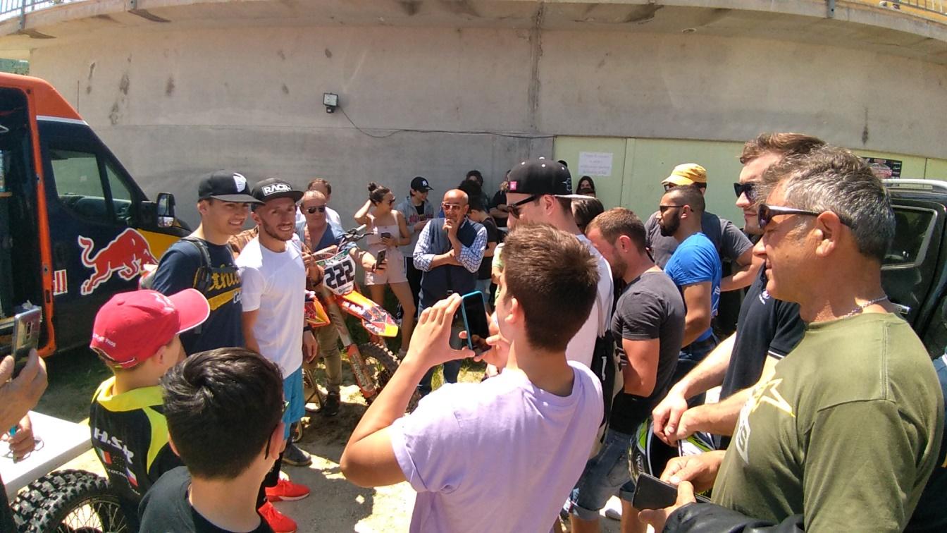San Severino Marche, Tony Cairoli al crossodromo San Pacifico