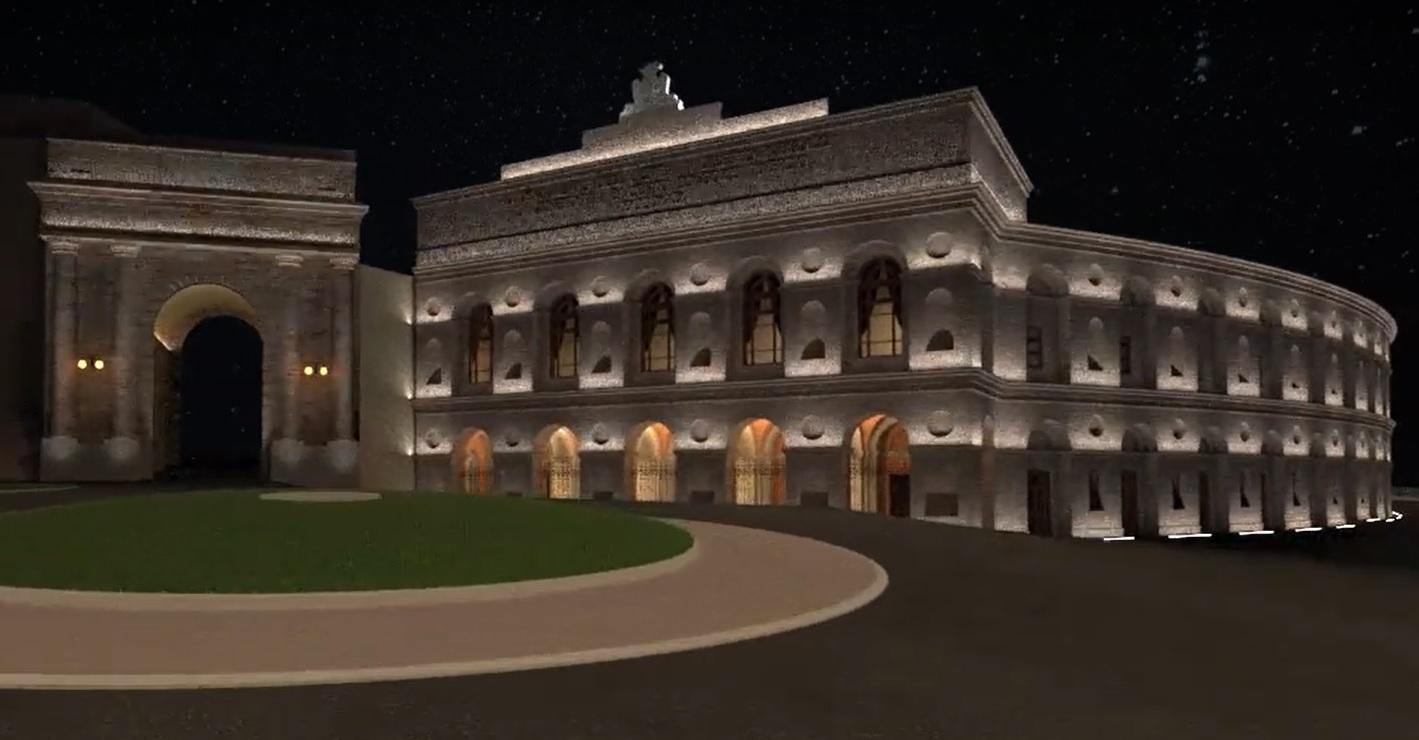 Macerata, si inaugura la nuova illuminazione dello Sferisterio