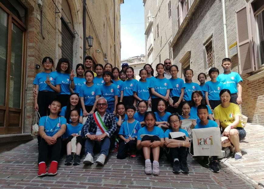 A Macerata alunni della Taicang Experimental Primary School